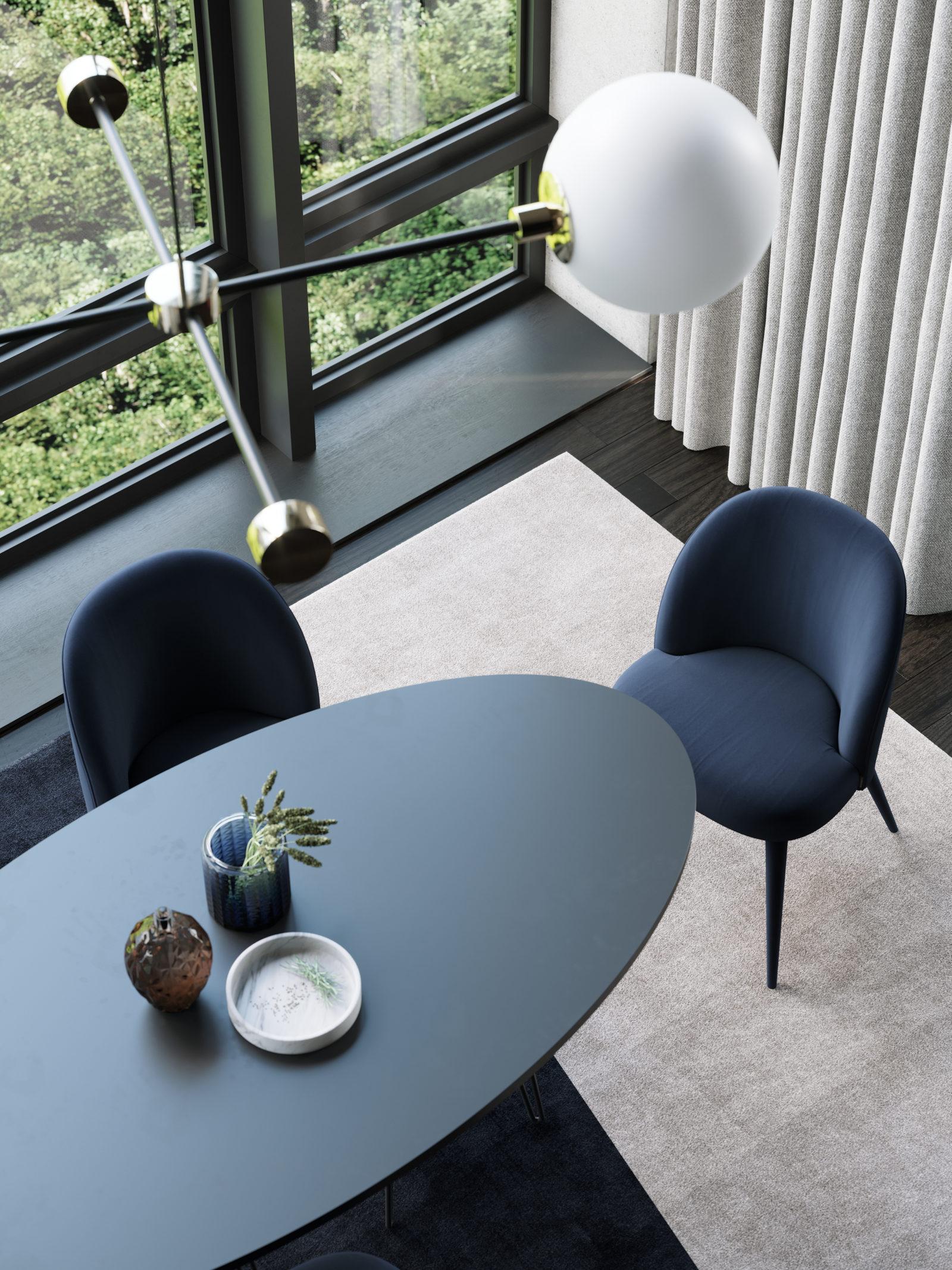 mesa de jantar tampo oval
