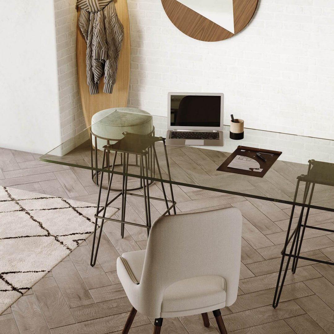 escritorio-secretaria-vidro-cadeira-bege-pouf-espelho-cabide (1)