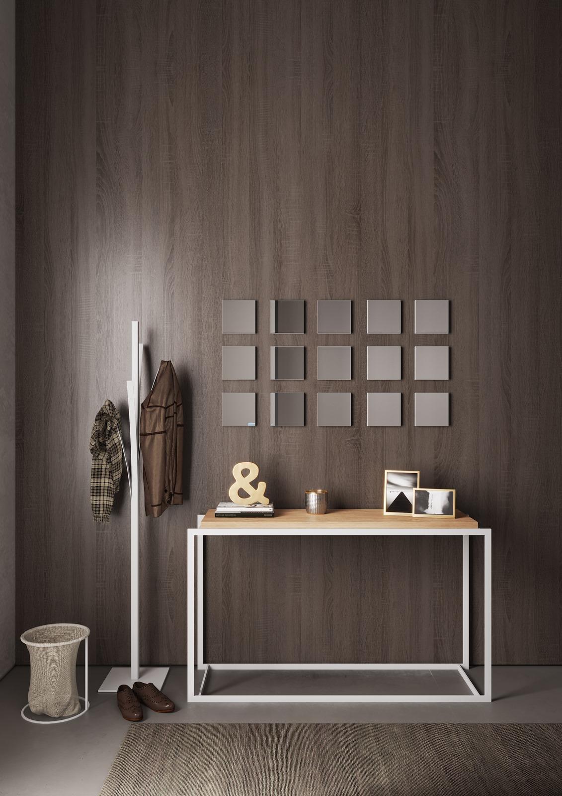 hall-entrada-consola-carvalho-ferro-branco-cesto-tecido-espelho