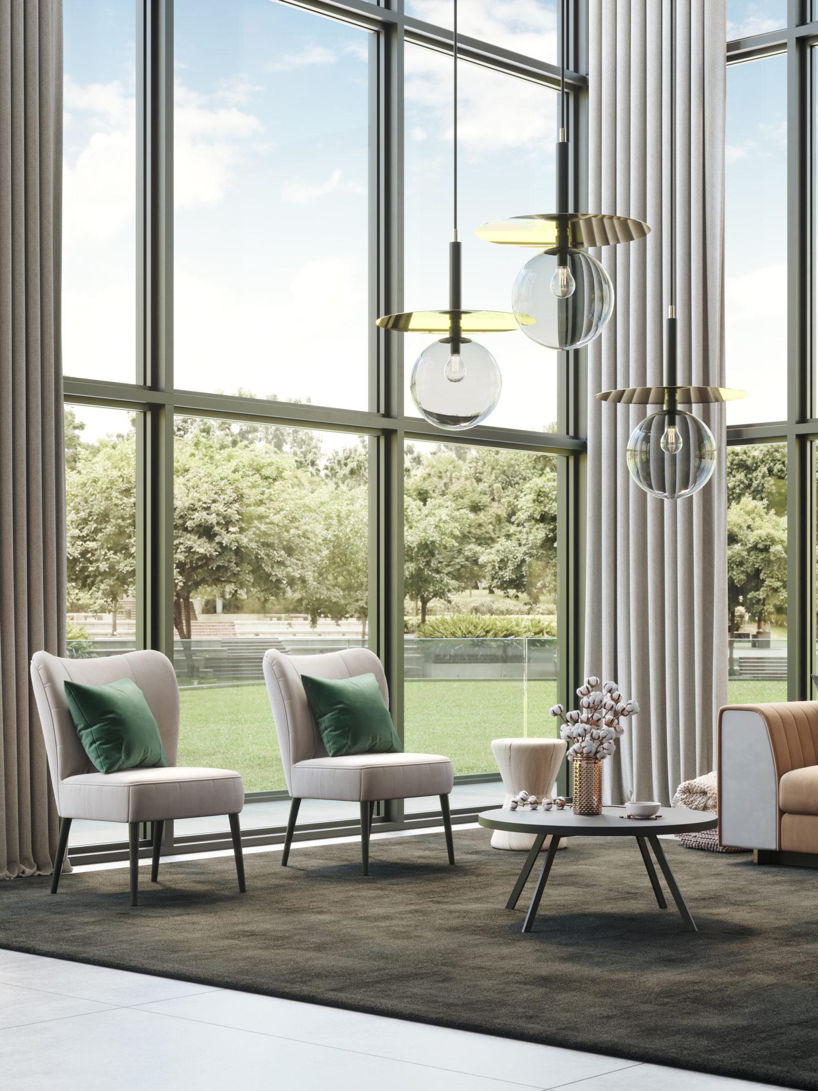 ambiente moderno sala de estar