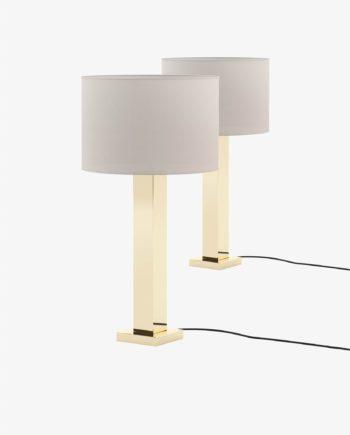 candeeiro em inox dourado para quarto moderno