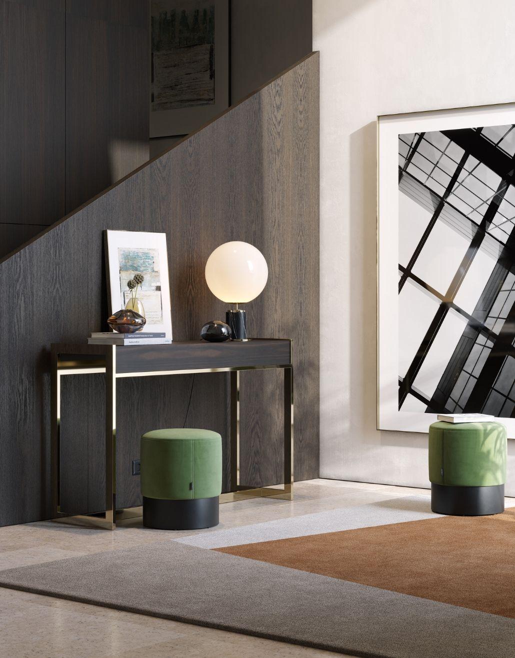 hall de entrada moderno com detalhes elegantes