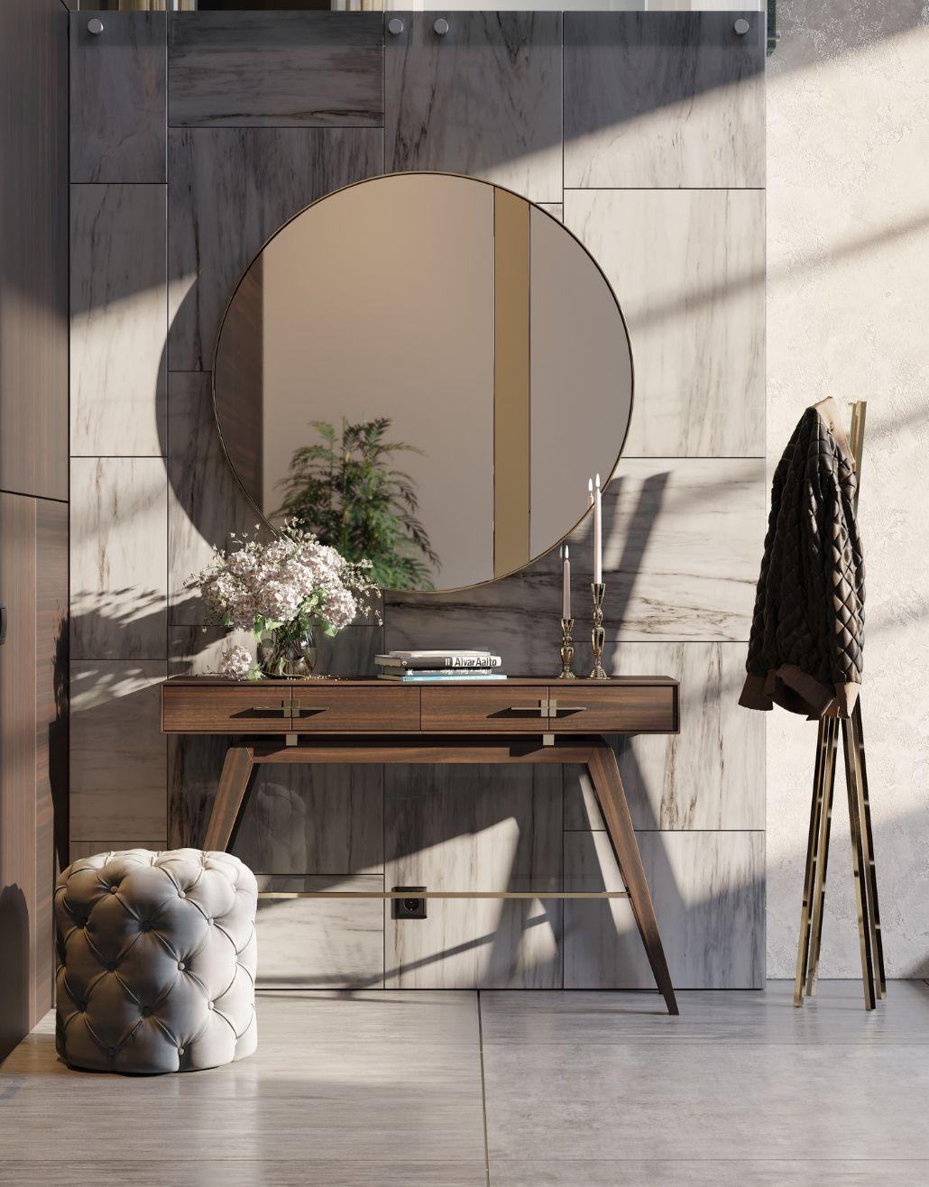 consola em madeira para decoração moderna