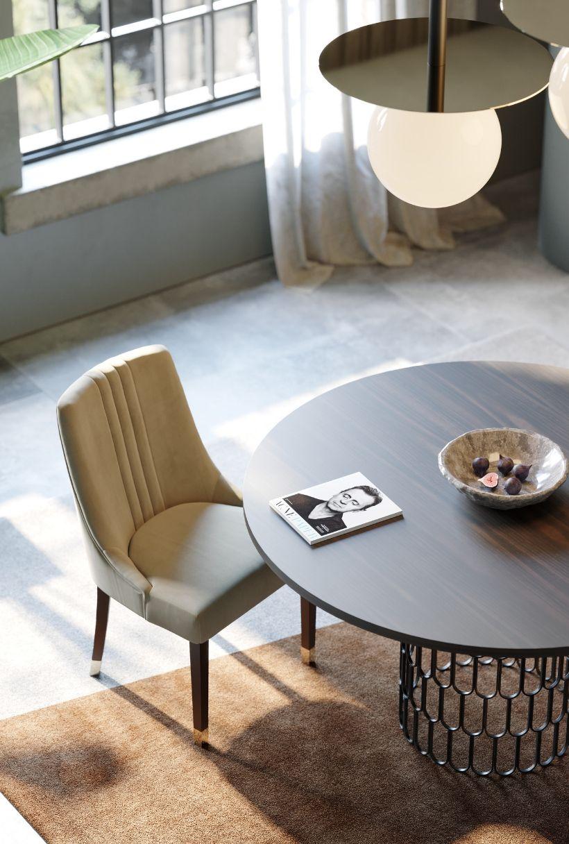 cadeira bege para sala de jantar