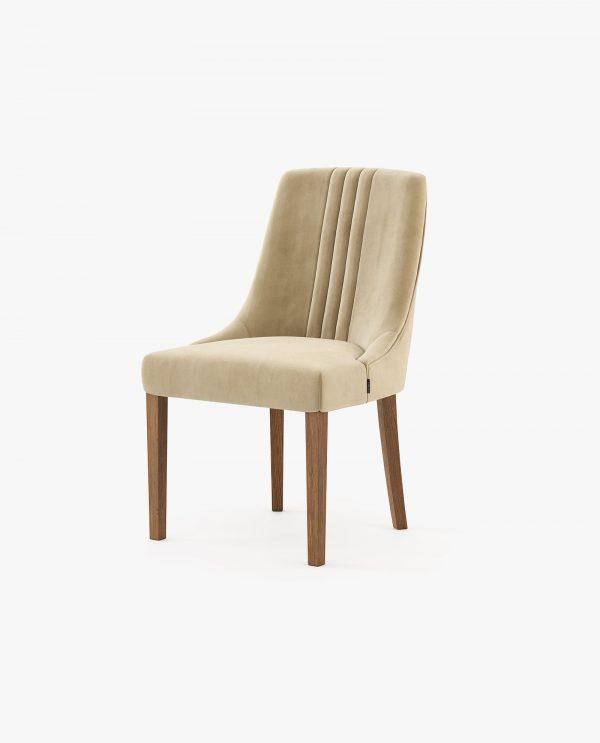 cadeira simone em veludo bege