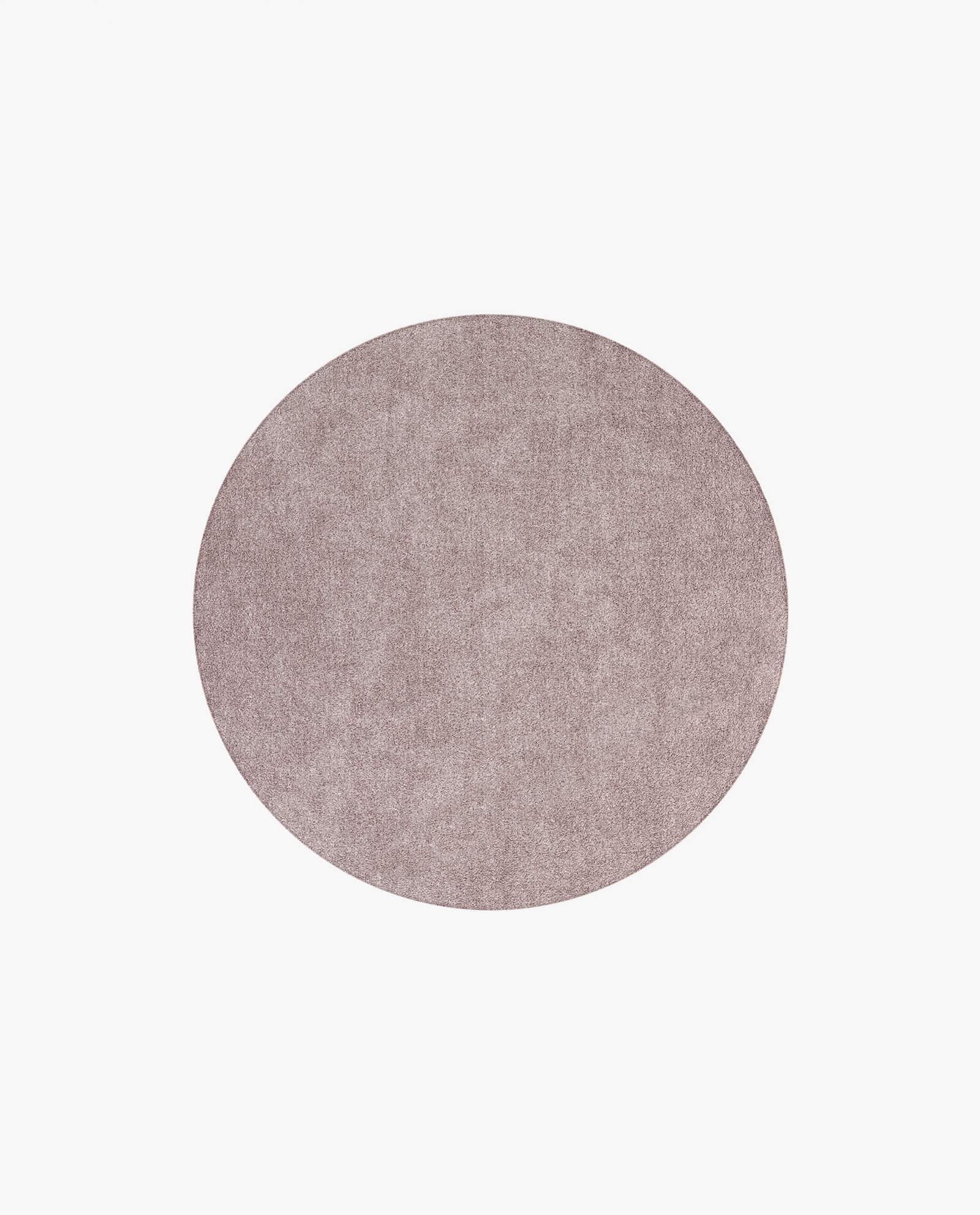 tapete circular em tecido rosa