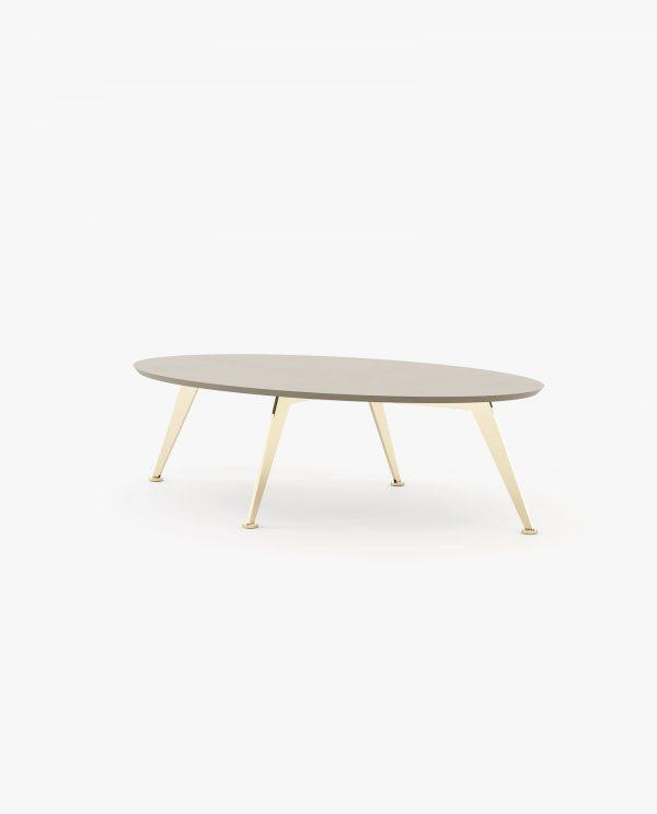 mesa de centro lacada a cinza
