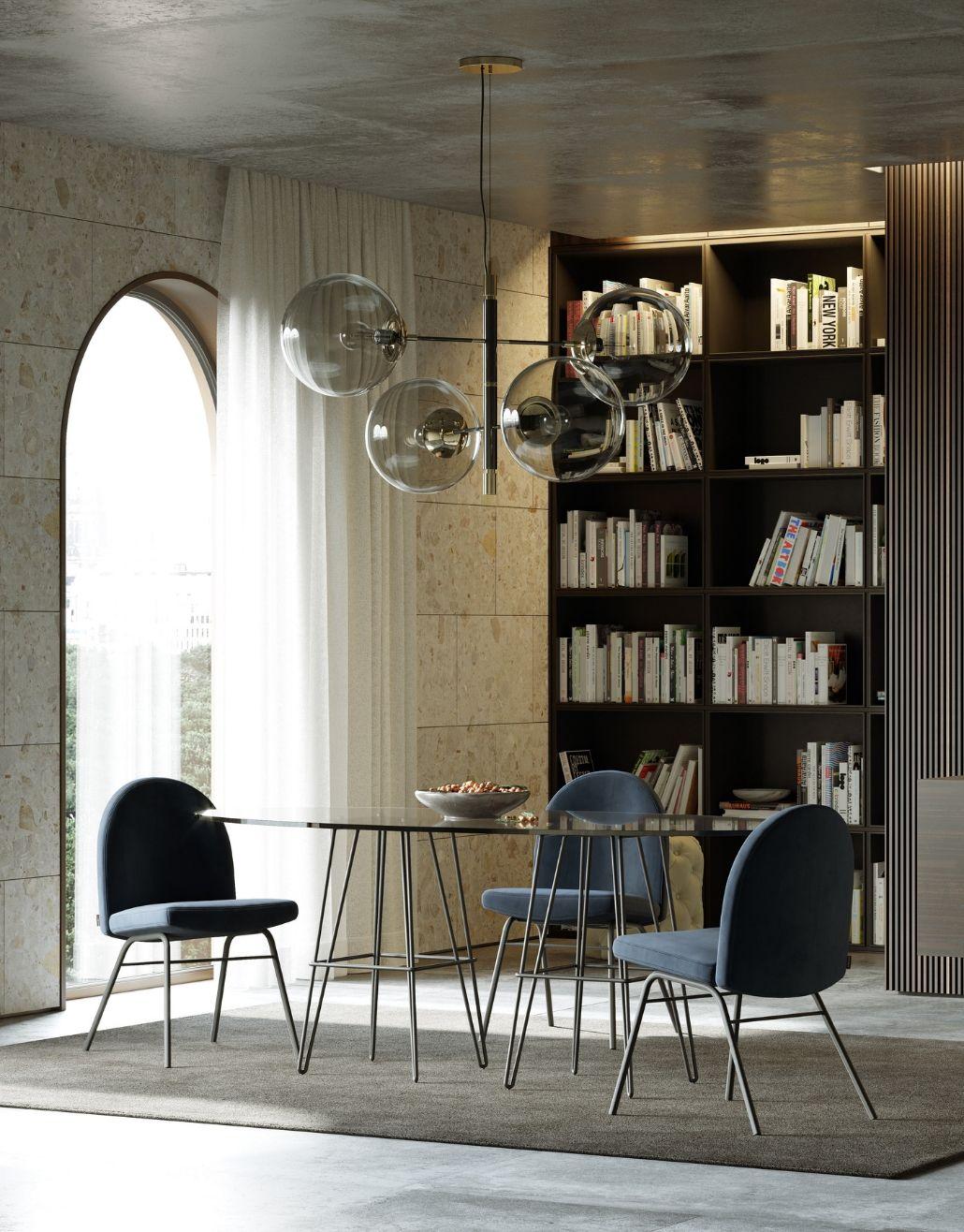 cadeira estofada para sala de jantar moderna