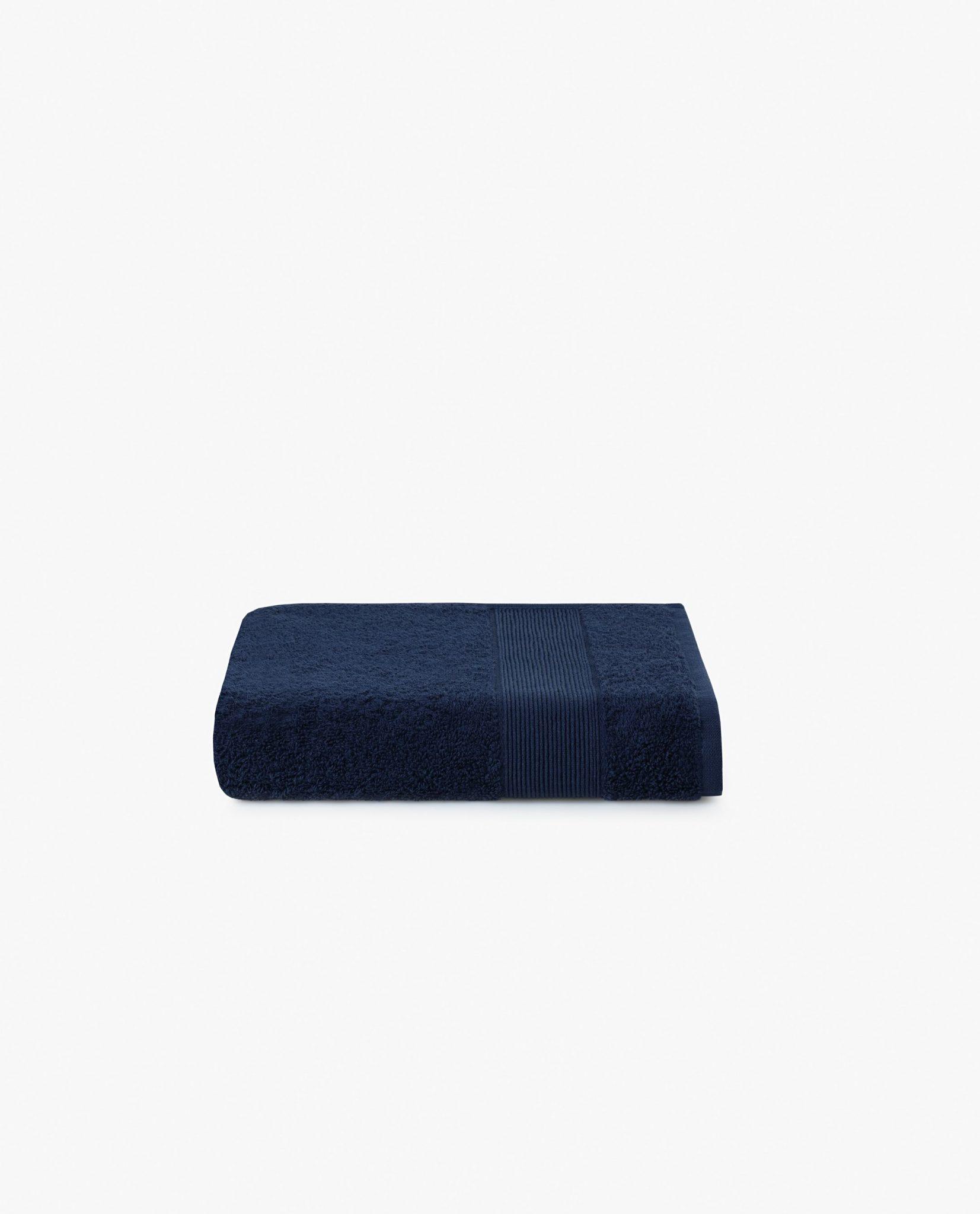 toalha de rosto 100%algodão em azul marinho