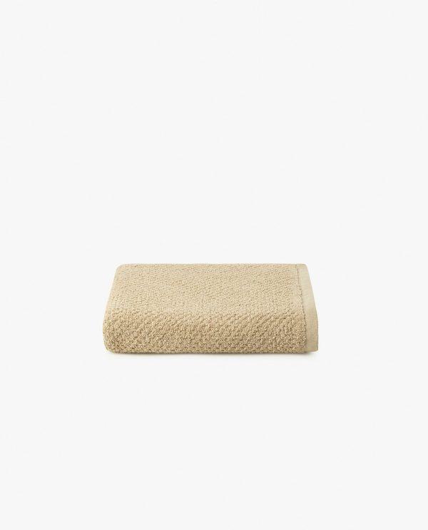 toalha de rosto 100% algodão em camel