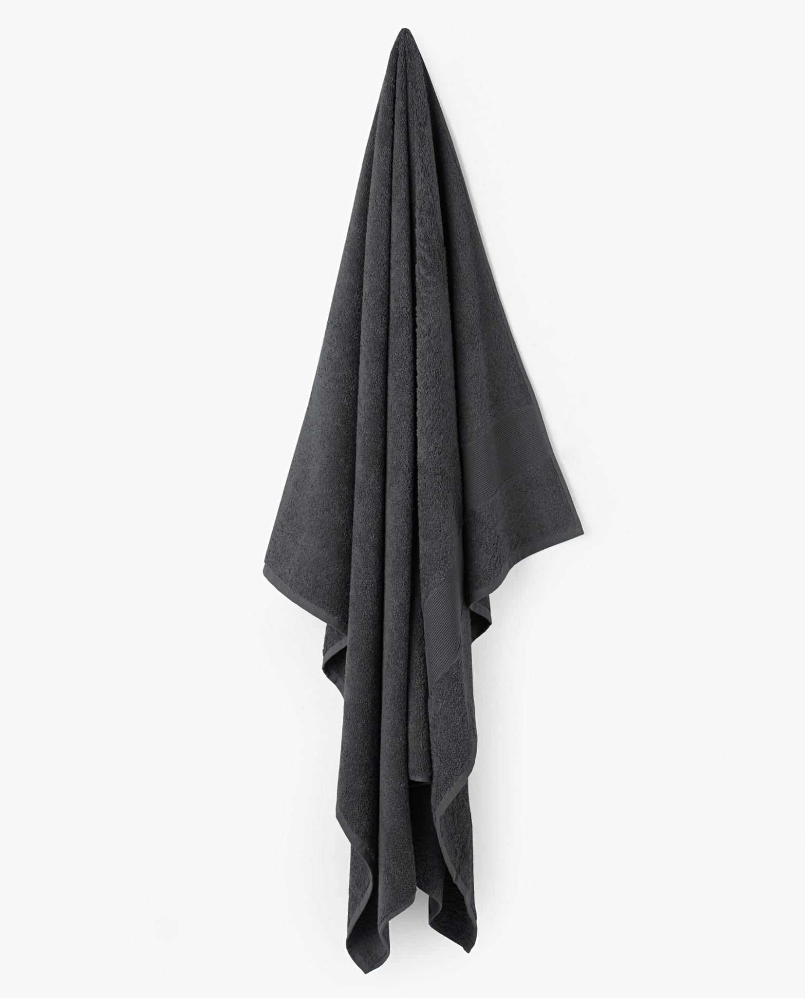 toalha de banho 100% algodão cor cinza