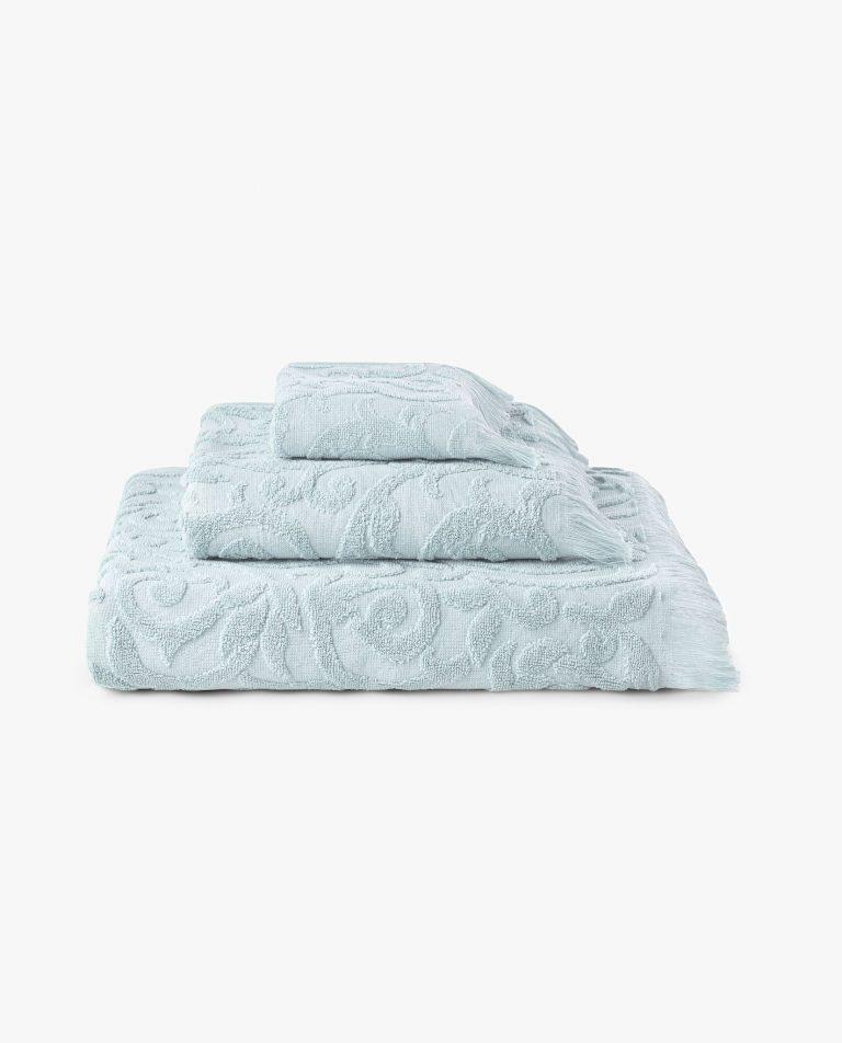 conjunto de toalhas 100% algodão em azul celeste