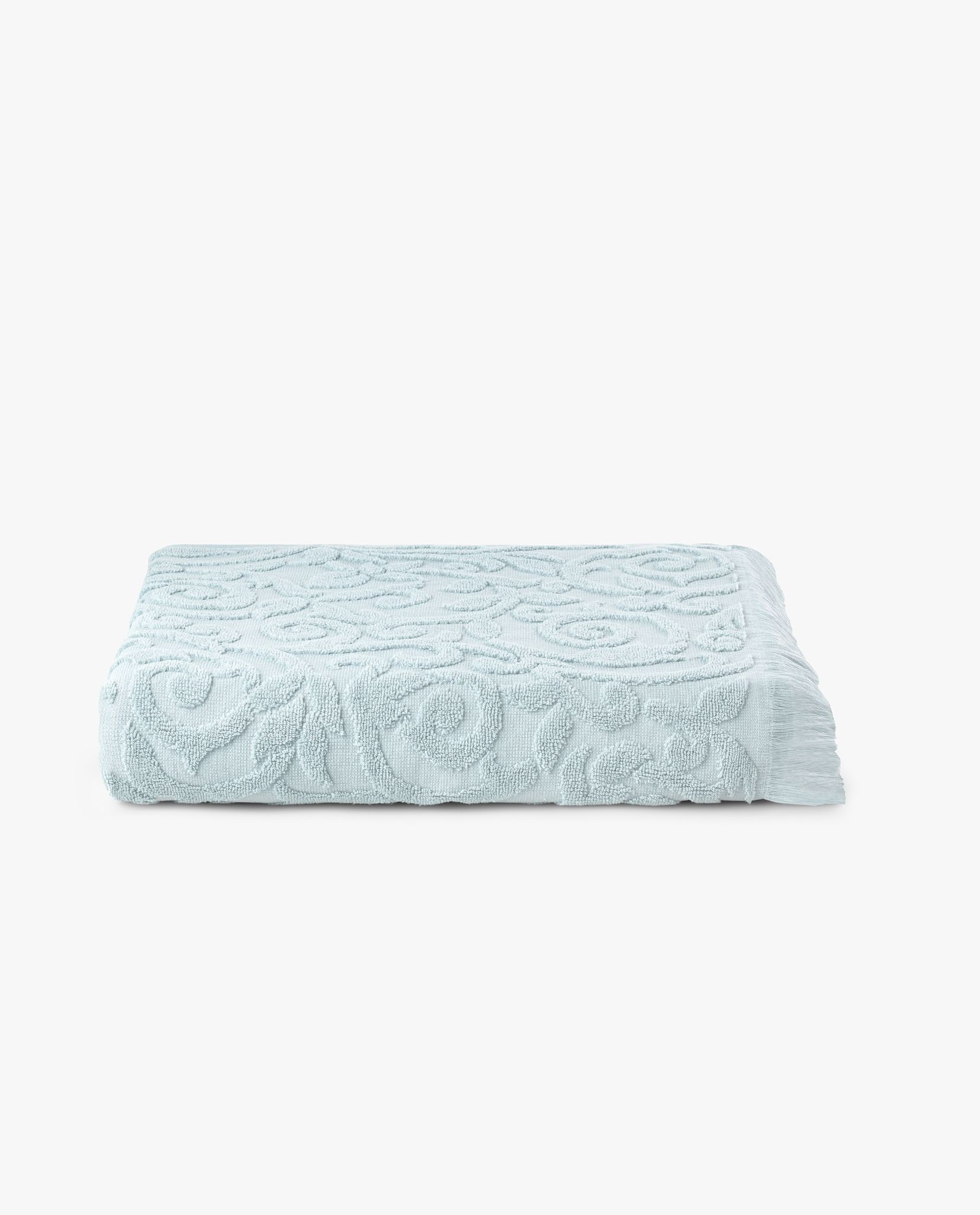 toalha de banho 100% algodão em cor azul celeste