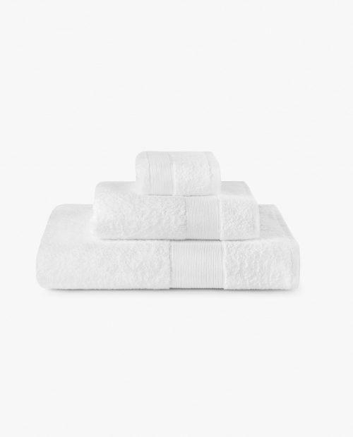 conjunto de toalhas 100% algodão em cor branco