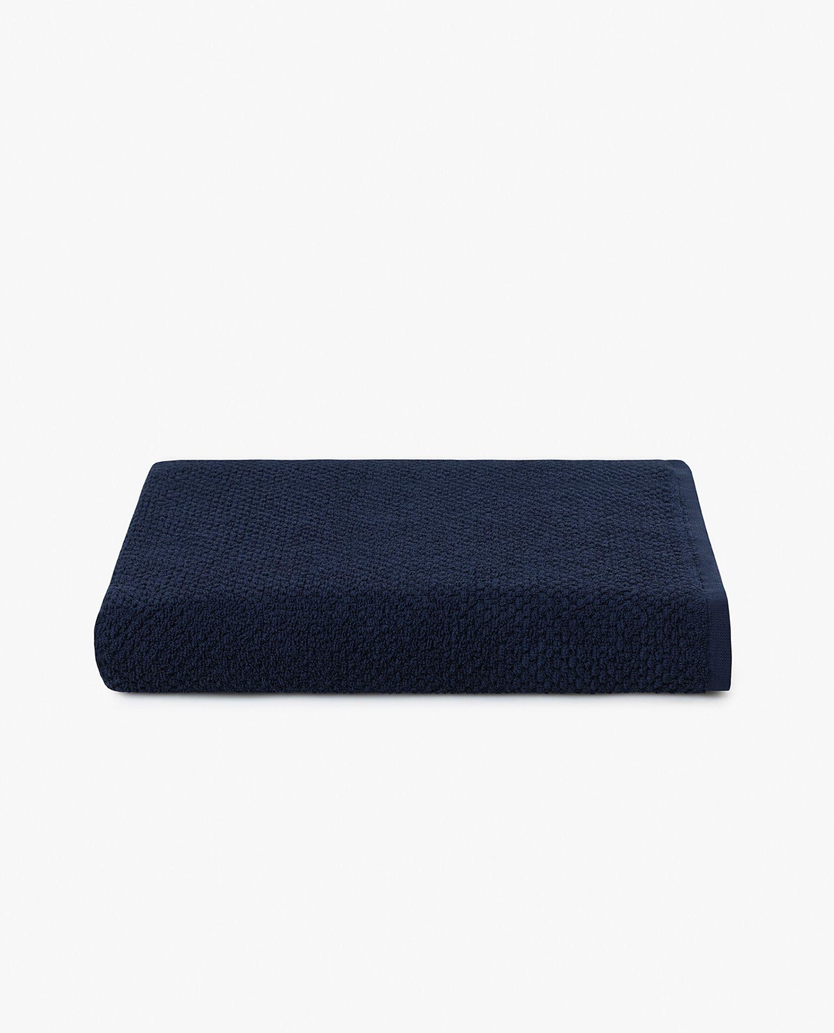 toalha de banho 100% algodão em azul marinho