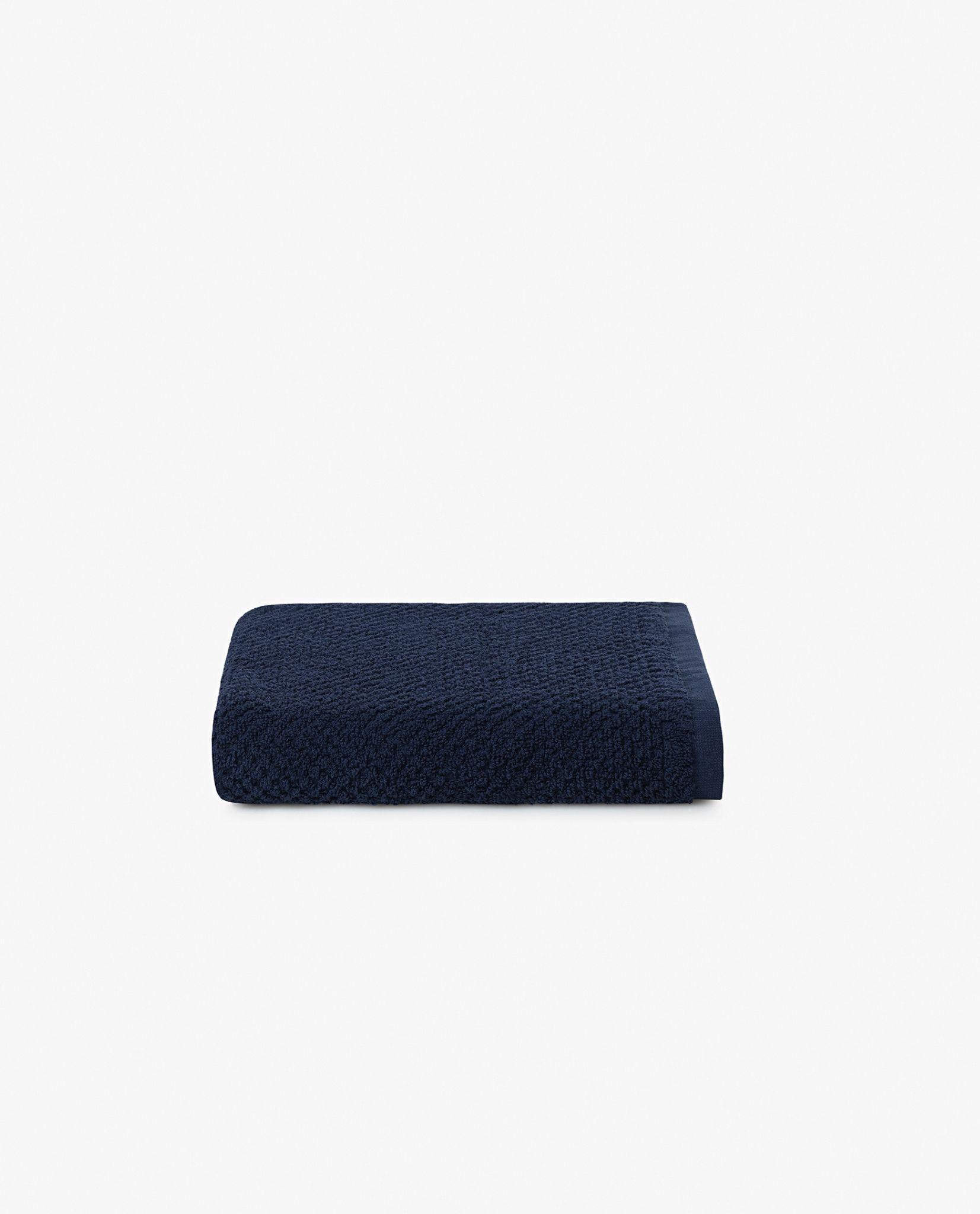 toalha de rosto 100% algodão em azul marinho