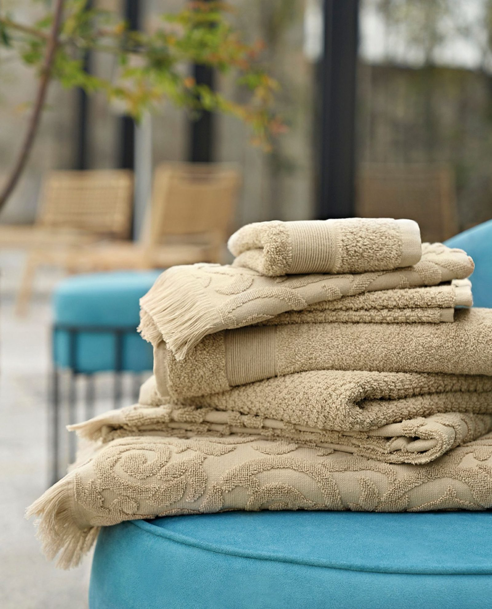 toalhas de banho em tecido 100% algodão