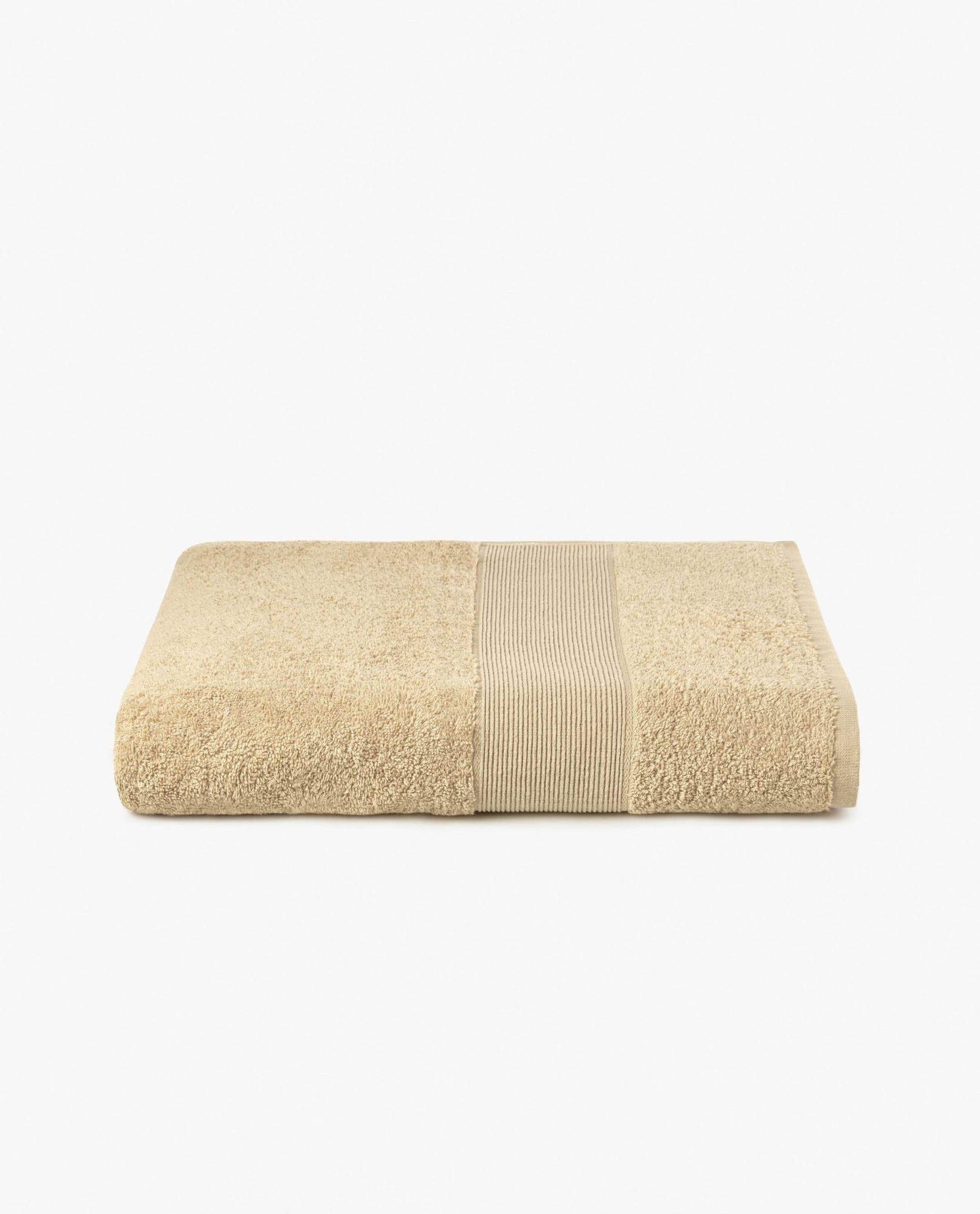 toalha de banho 100% algodão em cor camel
