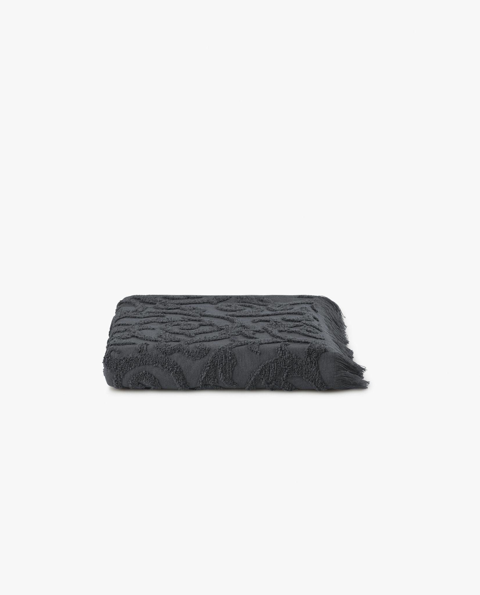 toalha de rosto com tecido cor cinza