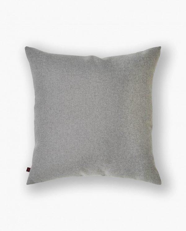 almofada decorativa em tecido cinza