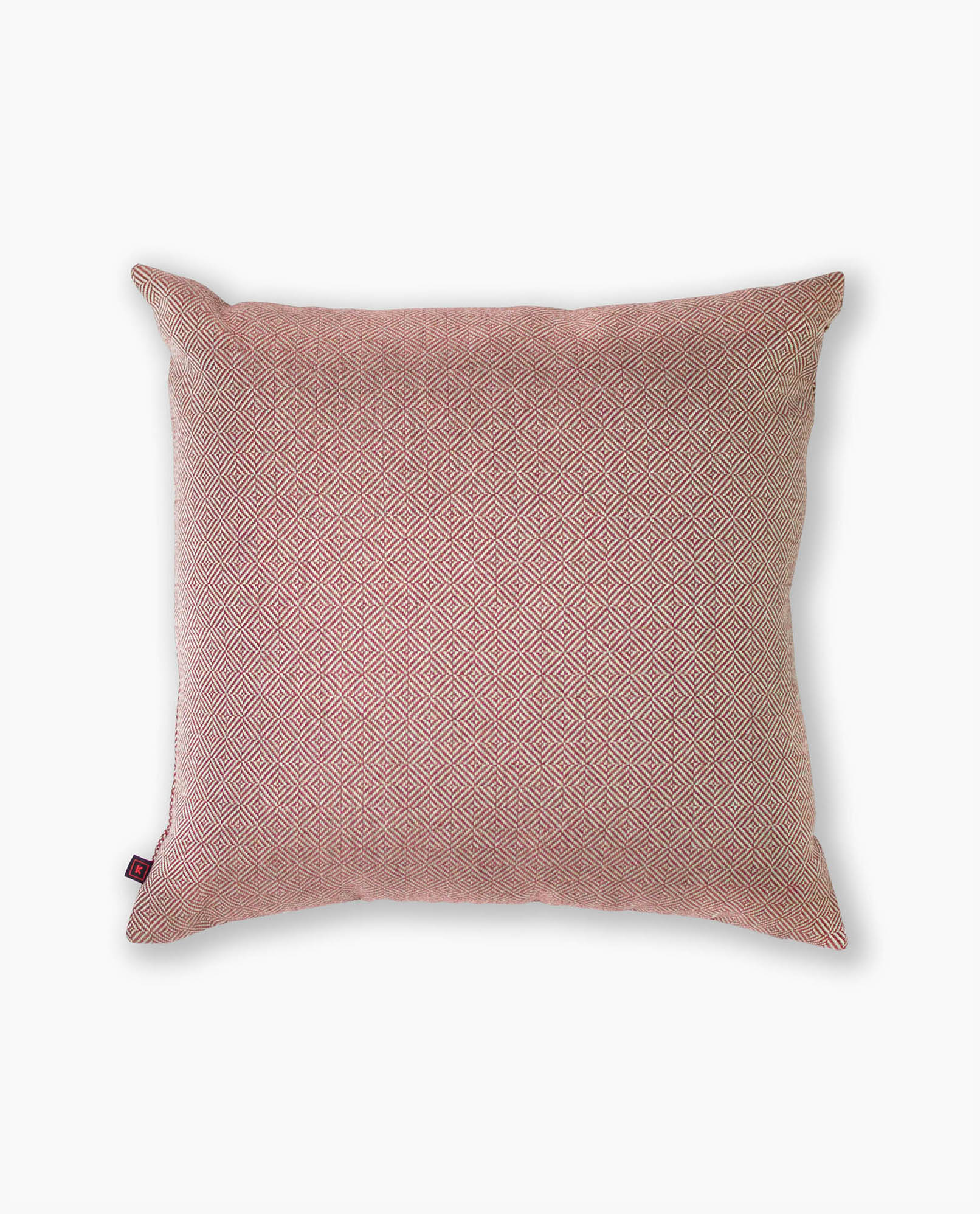 almofada decorativa em padrão vermelha
