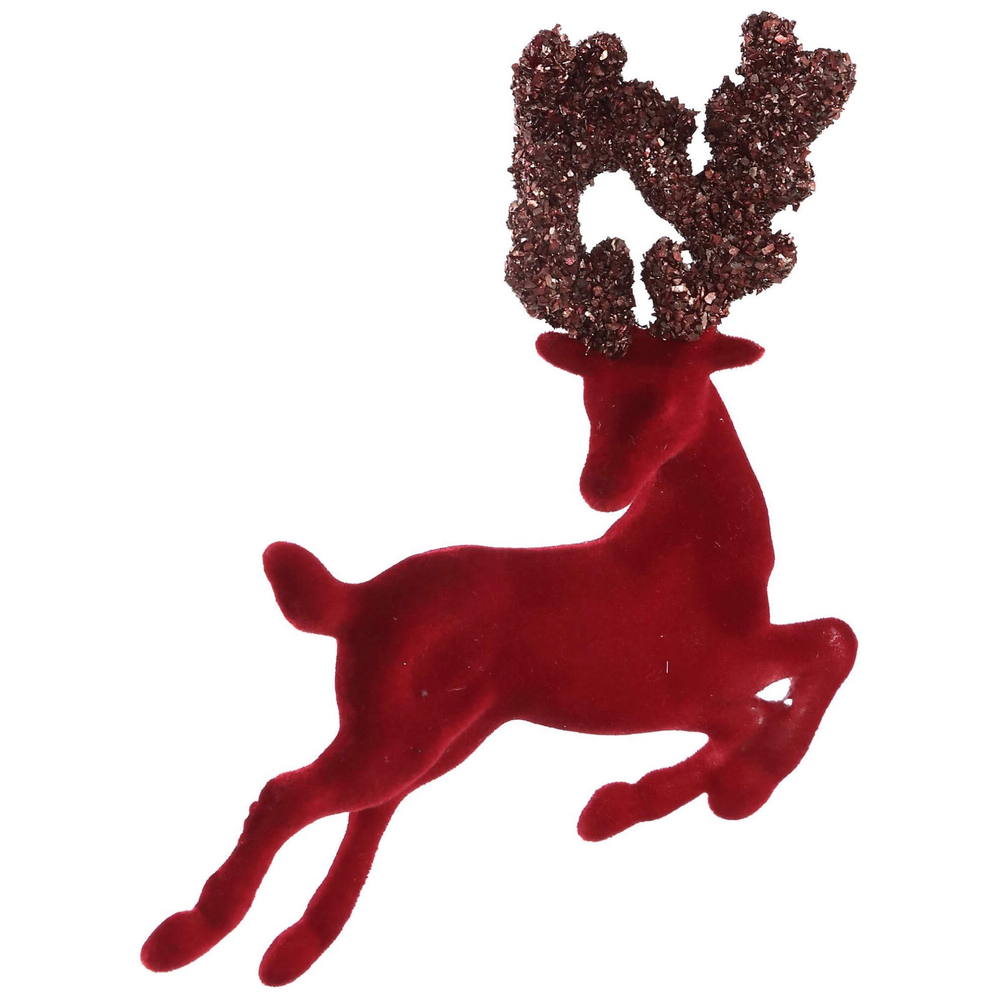 enfeite rena vermelha