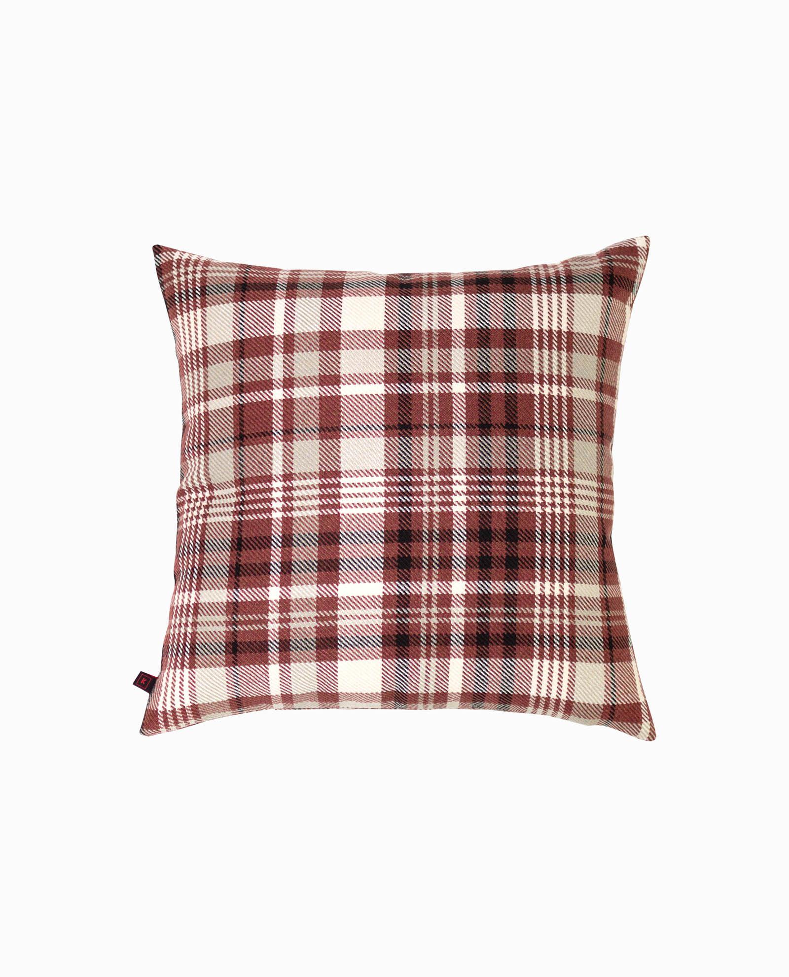 almofada decorativa padrão vermelho
