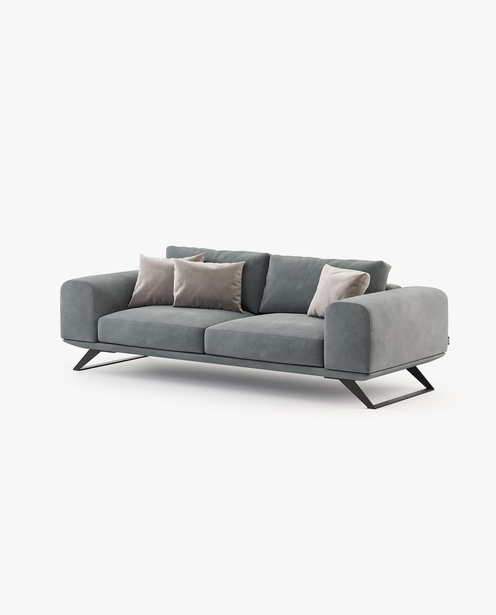 sofá 3 lugares em veludo