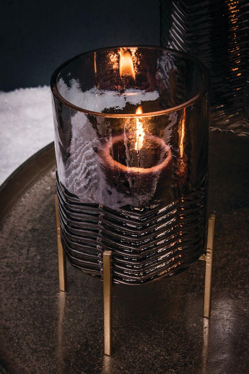 porta-velas em vidro