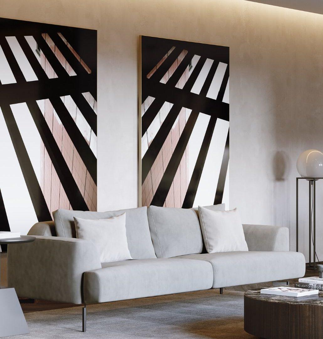 sofá taís em veludo para sala de estar moderna