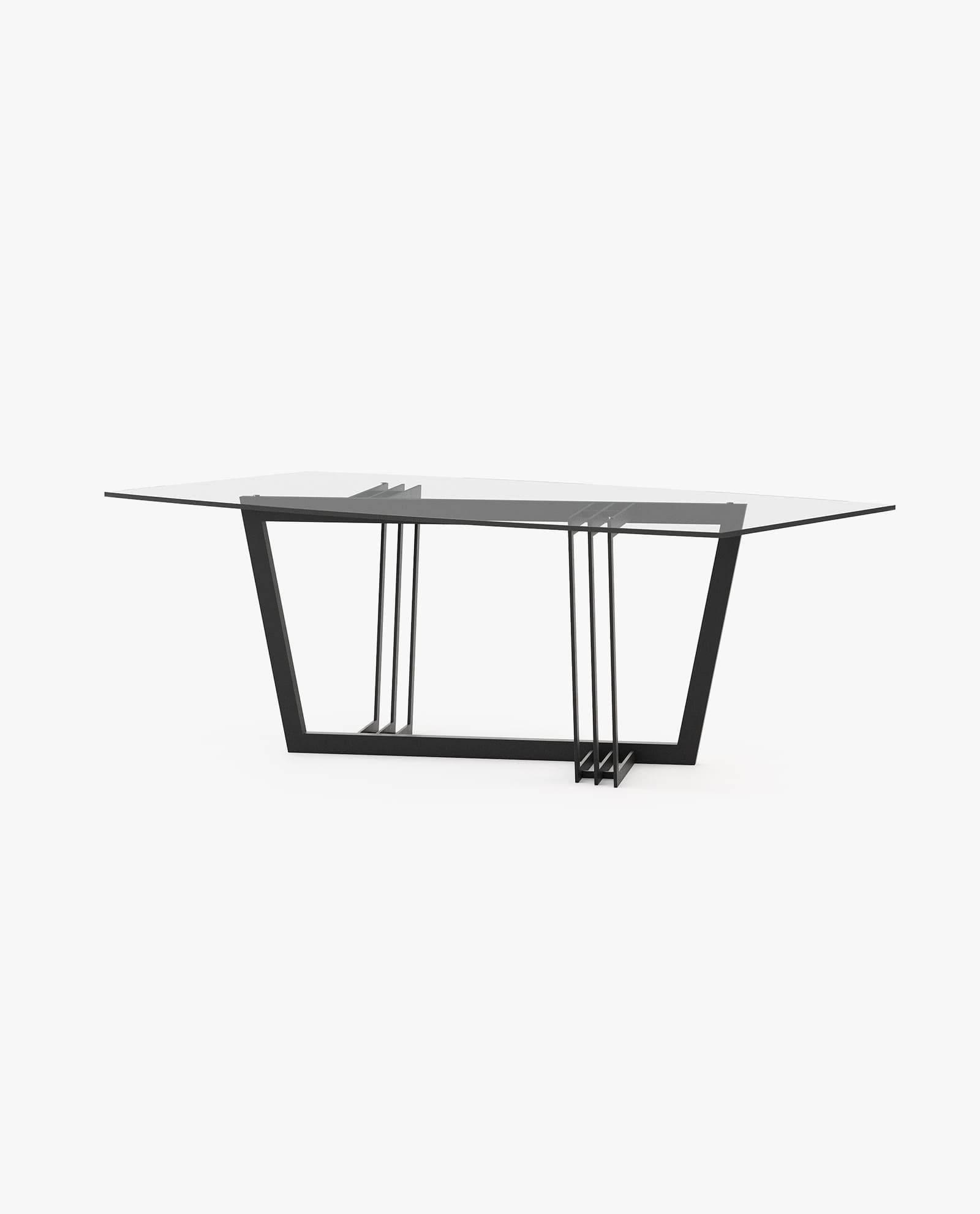 mesa de jantar com ferro preto