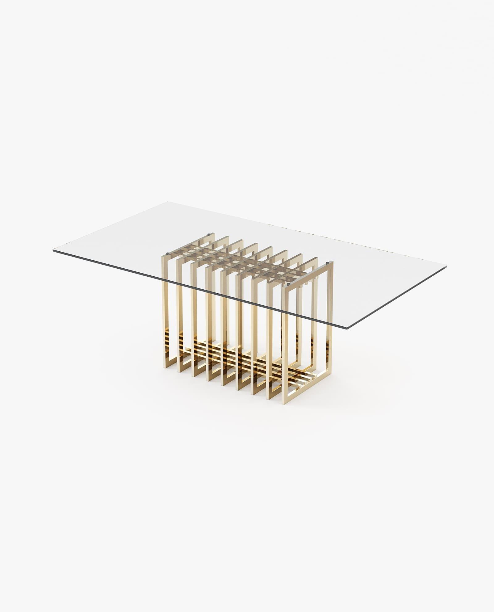 mesa de jantar com tampo em vidro