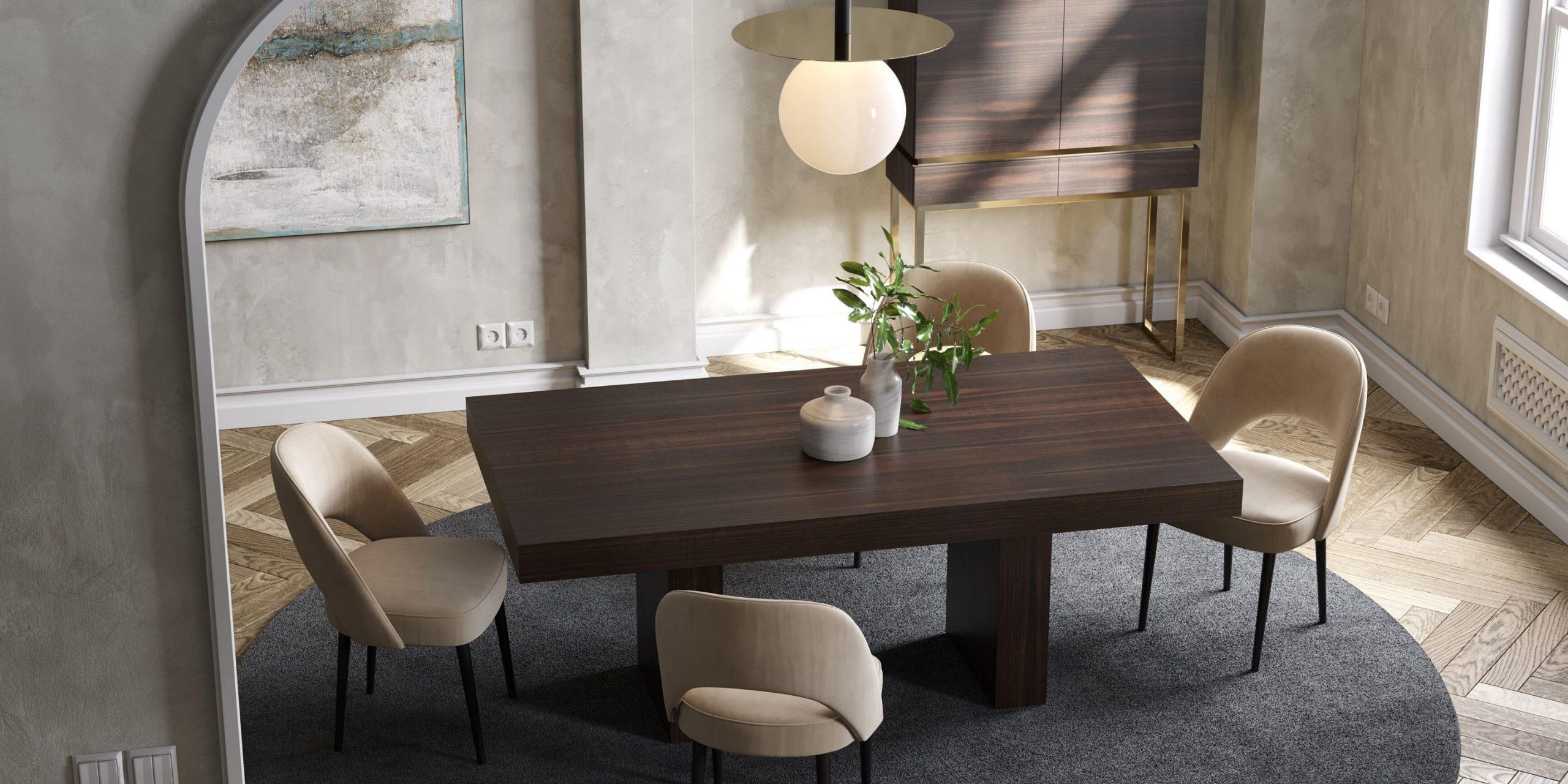 sala de jantar laskasas com decoração moderna
