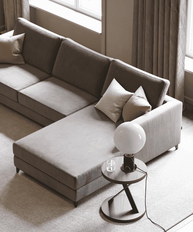 sofá chaise-longue laskasas para sala de estar moderna