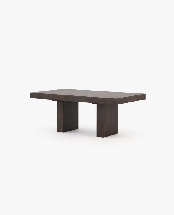 mesa de jantar extensível em madeira