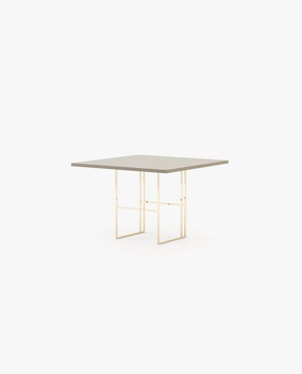 mesa de jantar com inox dourado