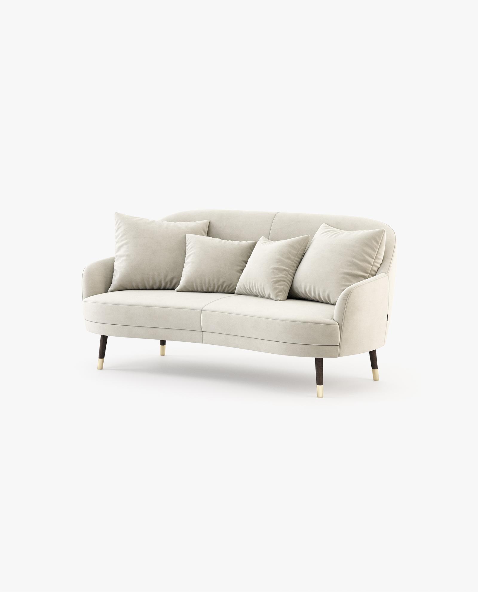 sofá 2 lugares em veludo
