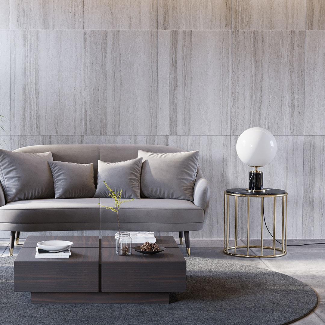 Mesa de Apoio Still com mármore - Laskasas